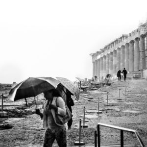 A rainstorm on the Acropolis