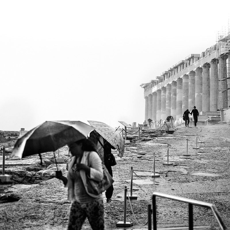 A rainstorm on the Acropolis
