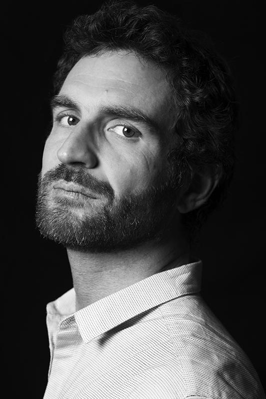 Portrait of Italian Actor Davide Barbato