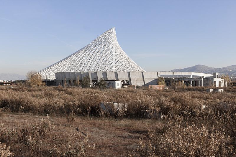 Vela di Calatrava - Exterior of the sport complex designed by Santiago Calatrava. Tor Vergata, Roma