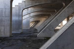 Structure of the Santiago calatrava sport complex in Rome