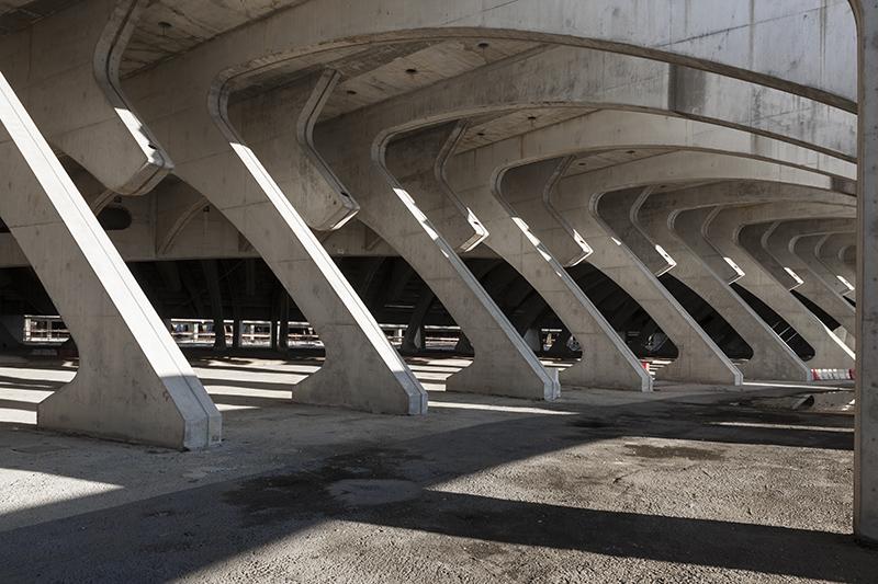 Santiago calatrava sport complex in Tor Vergata, rome