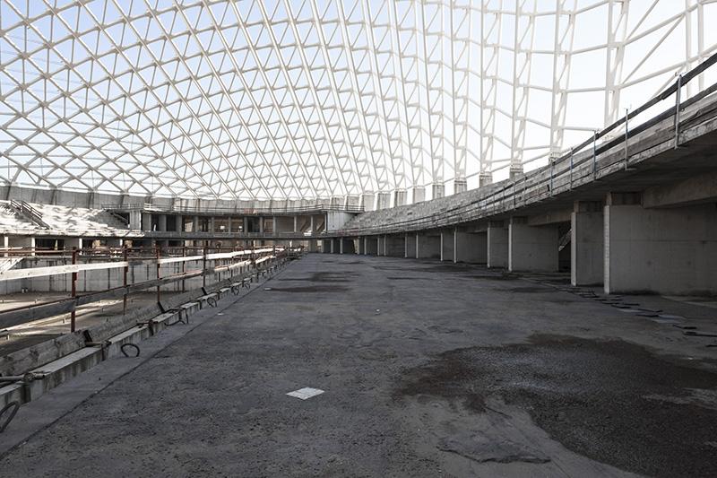 Vela di Calatrava. Unfinished building in Tor Vergata, Rome