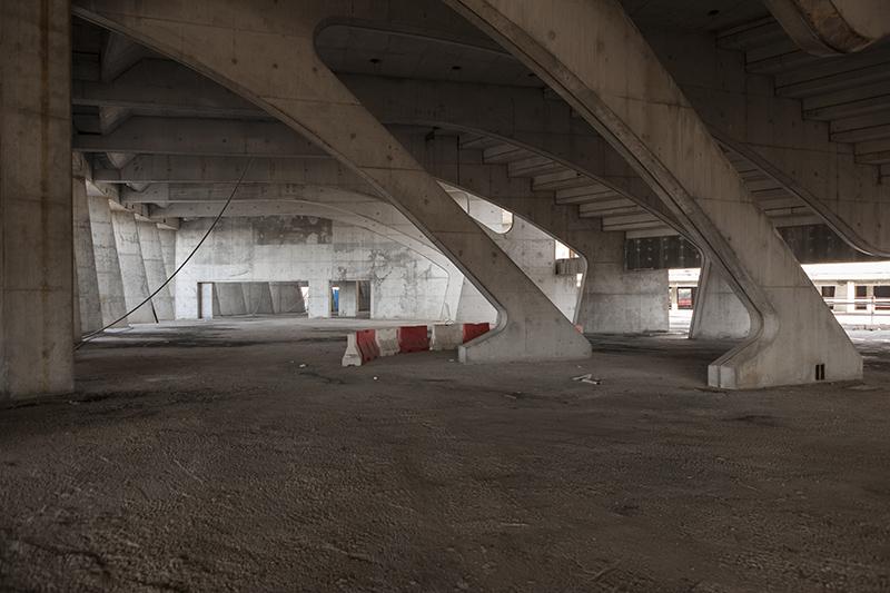 Inside città dello sport designed by santiago calatrava