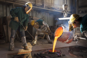 workers in Da Prato artistic foundry in Pietrasanta, Italy